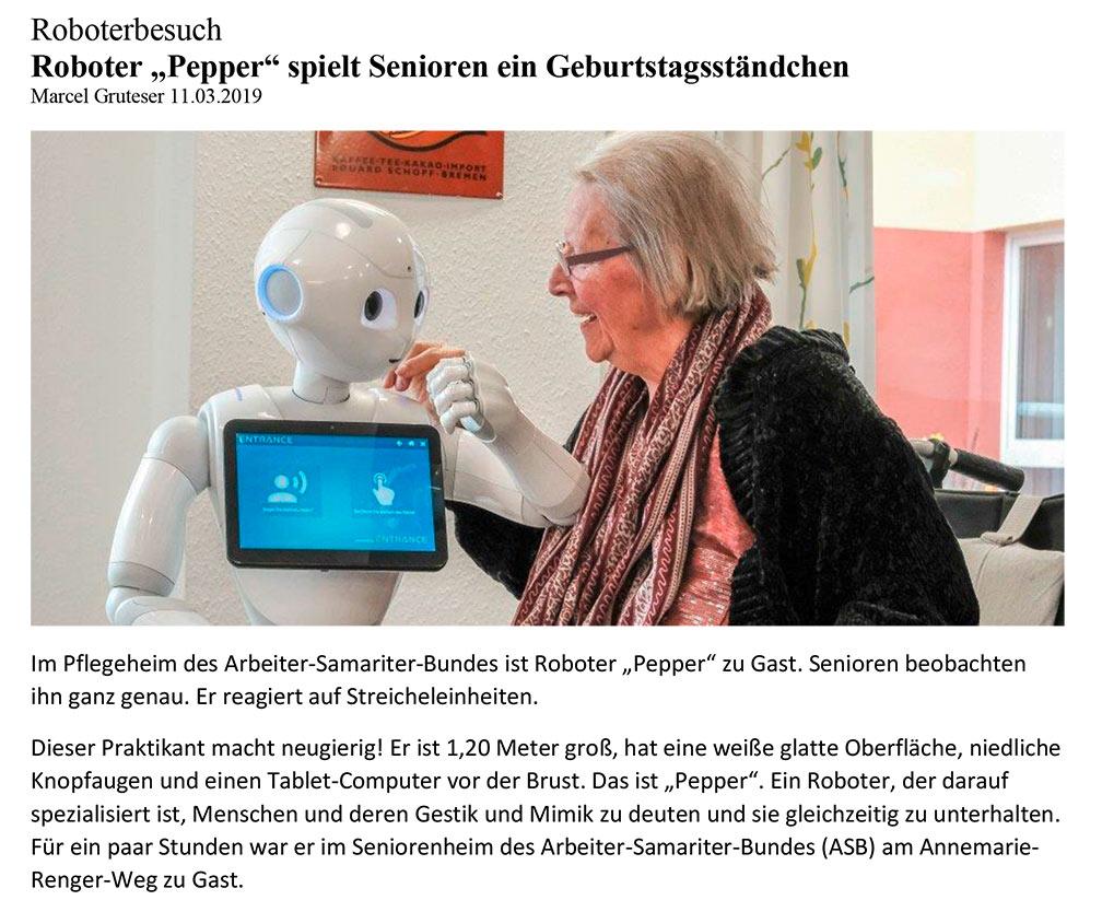 AG Robotik im Demenzhaus ASB Oberhausen