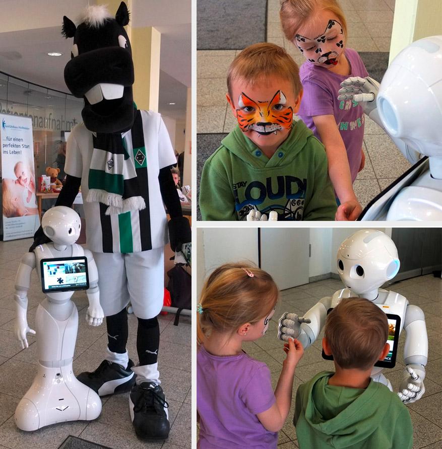 Humanoide Robotik - Pepper in der Kinderklinik Mönchengladbach Neuwerk