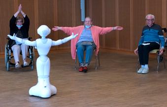 """Seniorenzentrum """"Gute Hoffnung"""" Kompetenzzentrum AriDA - Assistenzrobotik in Demenz und Autismus - Forschung"""