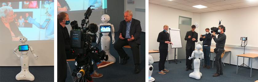 Phoenix, Dreharbeiten zum Thema Robotik