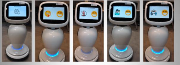 Roboter Jaime unterstützt das Kurzscreening für Besucher von vollstationären Einrichtungen